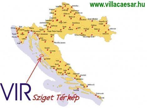 vir sziget térkép Térkép: Térképen a horvátországi Vir sziget vir sziget térkép