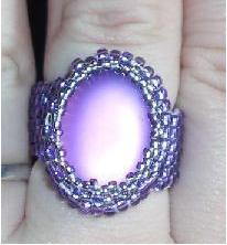 lila befoglalt gyűrű