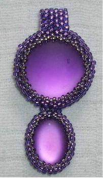 lila kapcsolódó kabosonok - medál