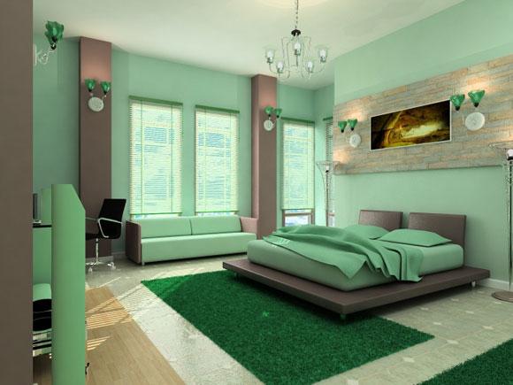 Hálószoba: Zöld zen (kép)
