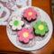 Marcipán virág kis torta