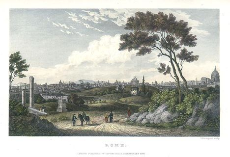 Rome view, 1843