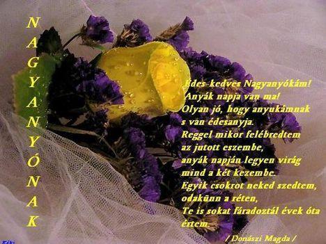 Nagyanyónak! Donászi Magda verse