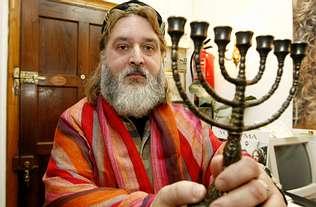 zsidó menórával