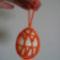 gyöngyhálós tojás, a mintáját improvizáltam, meg is látszik, kissé hibás a drága :)
