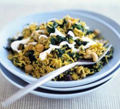 Indiai fűszeres rizsétel