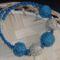 Bogyós karkötő kék ezüst