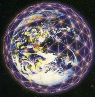 Életvirága szimbolum a Földre vetítve