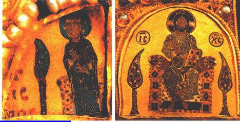 Jézus és Mária a szent koronánkon