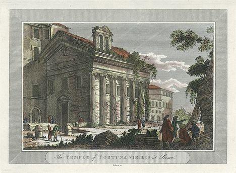 Rome, Temple of Fortuna Virilis, 1806
