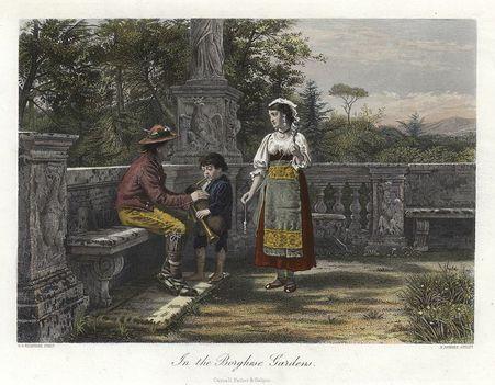 The Borghese Gardens, Rome 1872
