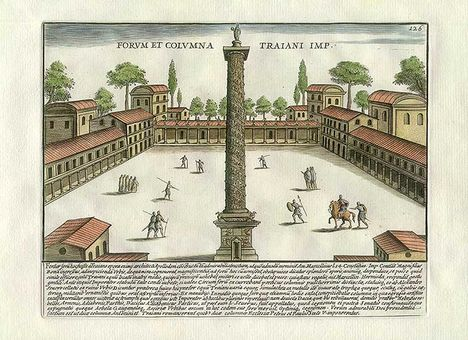 Trajan's Column and town square, Rome