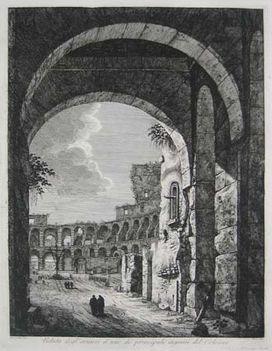 Veduta degl' avanzi d'uno de principali ingressi del Colosseo