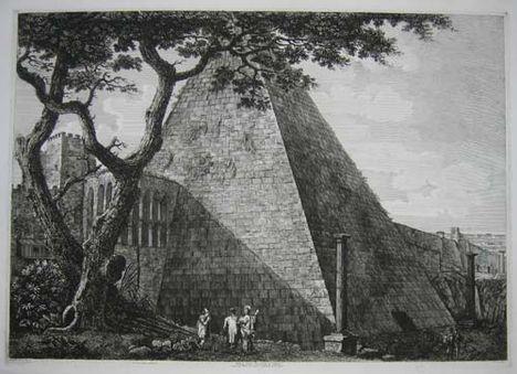 Veduta della Piramide di C_Cestio