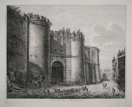 Veduta dell'Antica Porta Pinciana