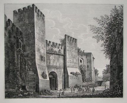 Veduta dell'Antica Porta Tiburtina oggi Porta S_Lorenzo