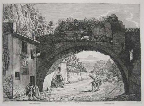 Veduta delle antiche sostruxioni del Monte Aventino