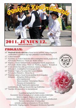 2011.06.12.: Pünkösdi Királyválasztás (Délegyháza) - plakát