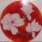 magnolia uvegfestes  glas 30x30cm