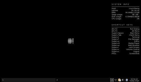 Crunchbang 10 Openbox Live Session - It Doesn't Go Snap, Crackle, Pop - It Goes Crunchbang