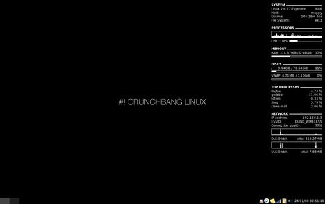 CrunchBang Linux 8-10-01 Clean Desktop
