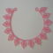 Leveles rózsaszín-fehér