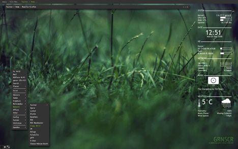 Modified CrunchBang desktop by Hanna