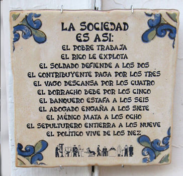 Felirat Sevillában a Plaza de Espana-n
