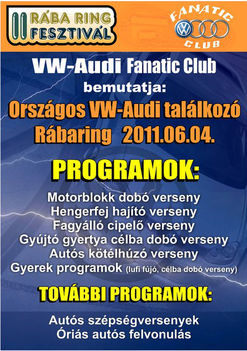 Oszágos VW-Audi találkozó - Rábaring 2011.06.04