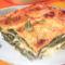 Spenótos parmezános lasagne