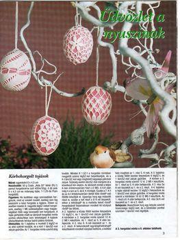 húsvéti tojások leírással
