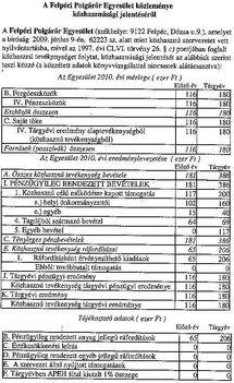 közhasznúsági jelentés 2010