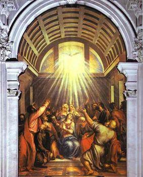 Tiziano - A Szentlélek eljövetele (1545)