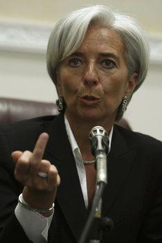 Christine Lagarde beint