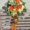 Luxus ballagási csokor narancs-zöld színben