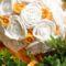 Ming rózsás ballagási csokor közeli