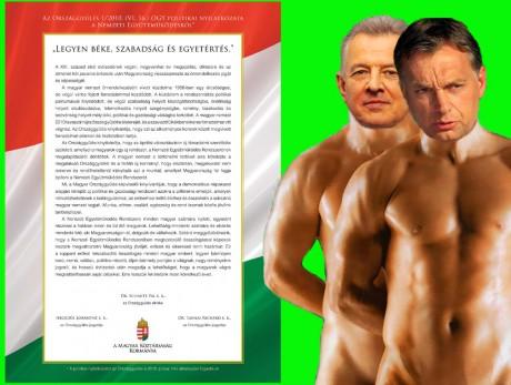 Orban és Schmitt chippandale a hazának
