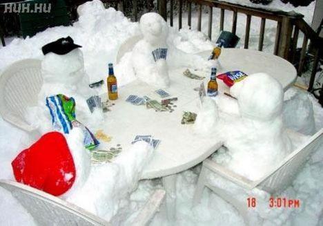 hóvá fagyva