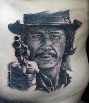 Charles Bronson tattoo