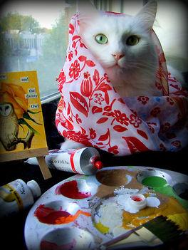 Festő macska