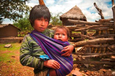közép-amerikai indián gyerekek