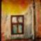 lerobbant ház ablaka
