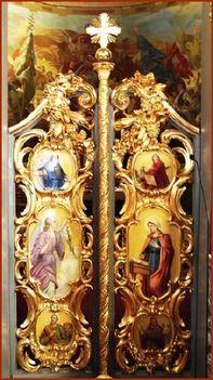 Máriapócs ikonosztázion Királyi Ajtó