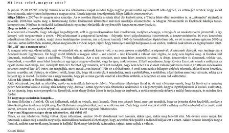Interjú Siliga Miklós zeneszerzővel