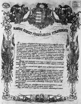 1849 Függetlenségi Nyilatkozat