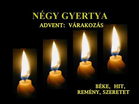 ADVENTI GYERTYÁK