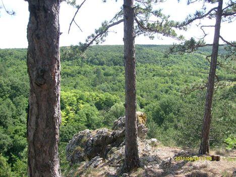 Kilátás a Koloska sziklákról