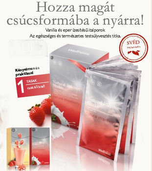Natural Balance Shake Strawberry (Eper) 7 tasakos italpor