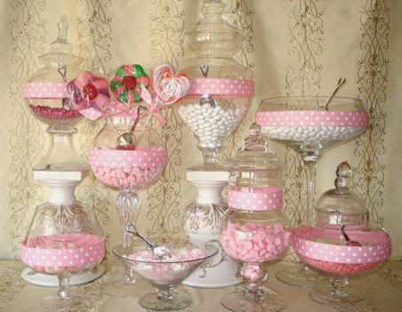 Candy bár, vagy cukorka bár esküvőkre 13