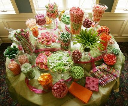 Candy bár, vagy cukorka bár esküvőkre 16